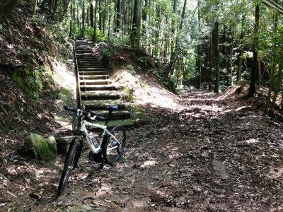 この階段を上がれば地蔵寺方面?