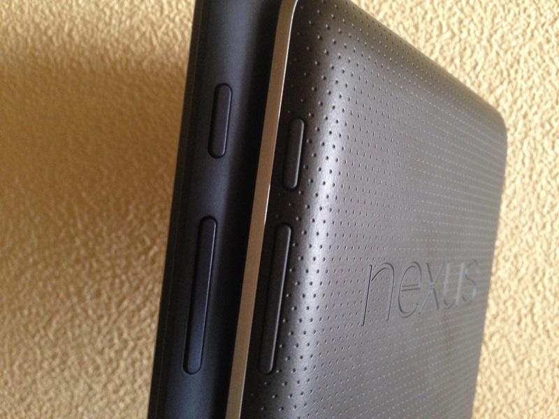 Nexus7(2012)、MeMo Pad ME173電源・音量ボタン
