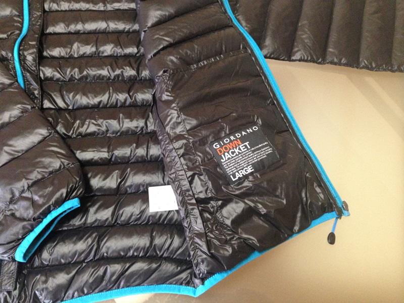 ジャケット内側のタグ