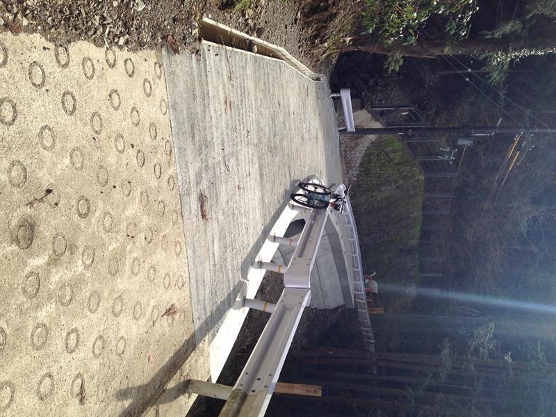 光滝キャンプ場先の修繕箇所