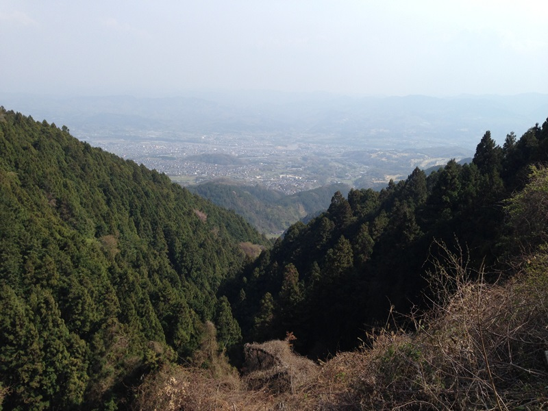 金剛山から五條市街地方面を見る