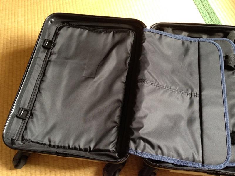 スーツケース左面