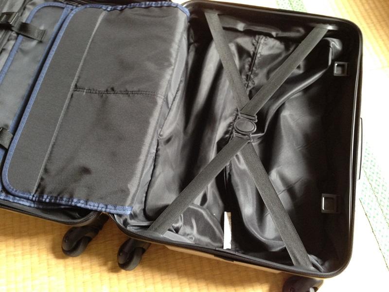 スーツケース右面