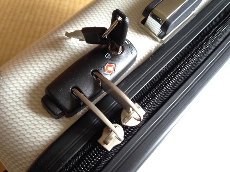 TSAロックと鍵