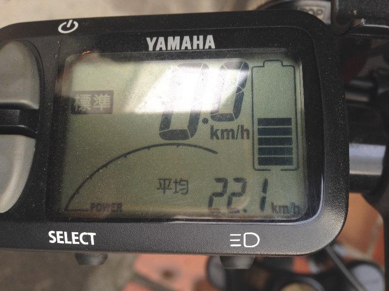 平均速度22.1km/h