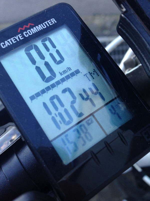 1時間02分44秒、気温は4℃