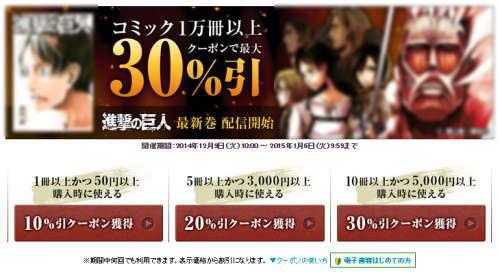楽天kobo 30%引きクーポン スクリーンショット
