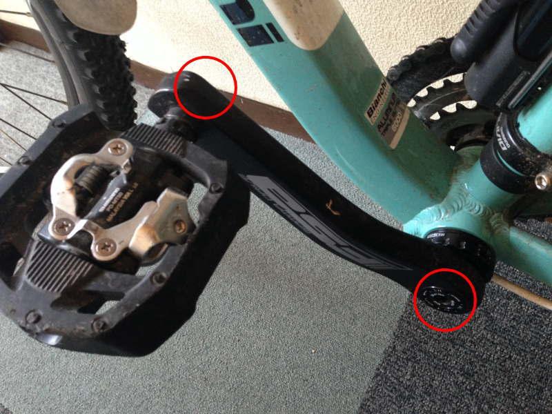 異音の原因はペダルとクランクのネジが緩んでいた可能性