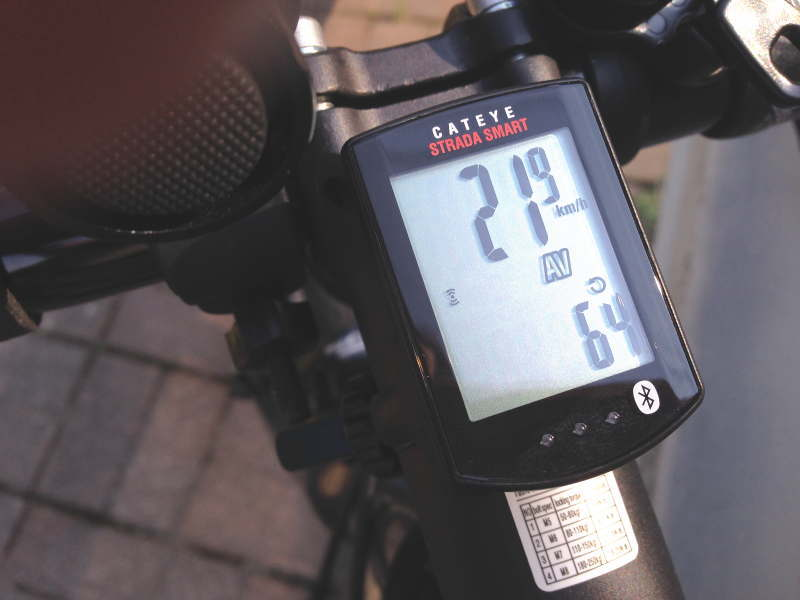 平均21.9km/h、平均ケイデンス64