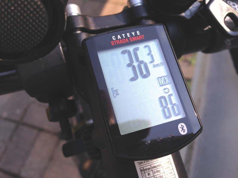 最高36.3km、最高ケイデンス86
