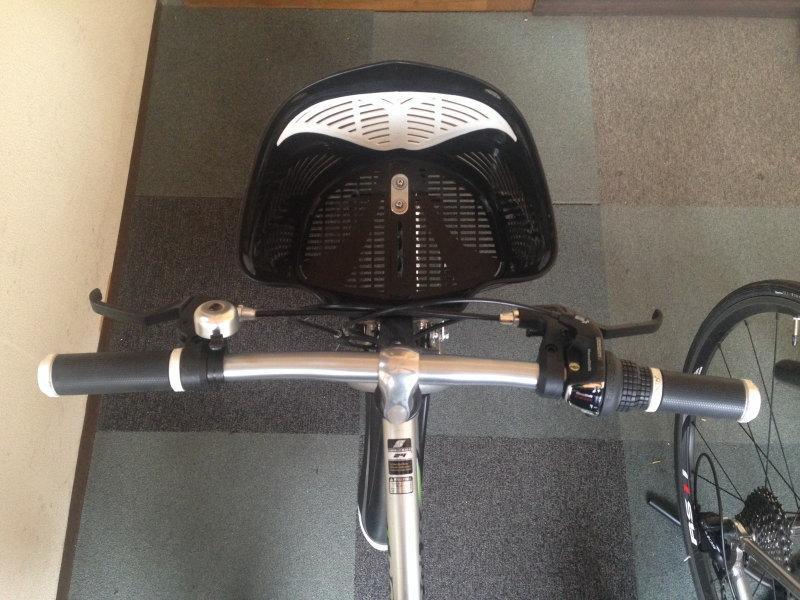 息子の自転車のハンドル