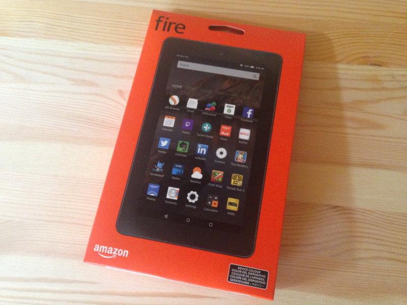 Fireタブレット8GBパッケージ