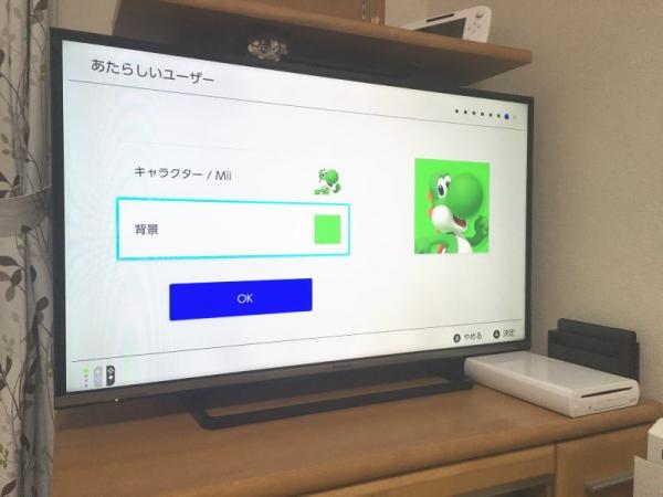 Switch初期設定
