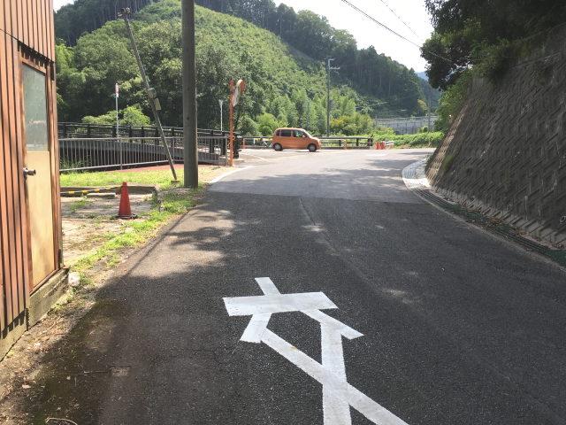 府道221号線(加賀田片添線)の加賀田の奥あたりからふるさと農道へ