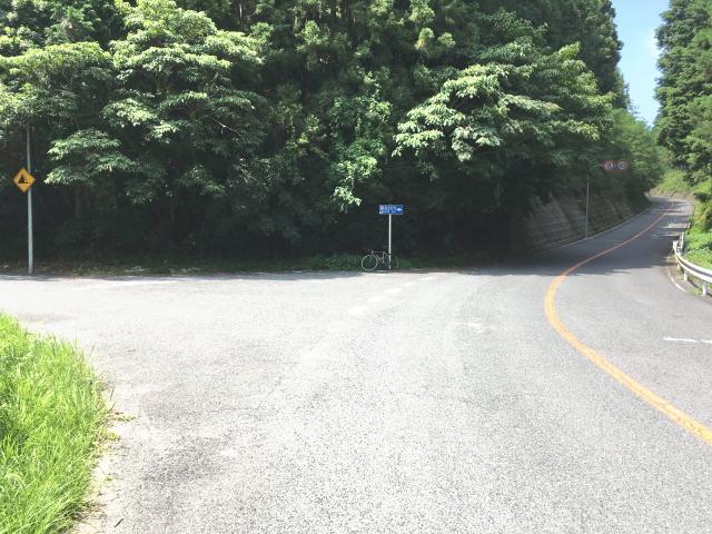 府道214号線(河内長野千早城跡線)との交差点