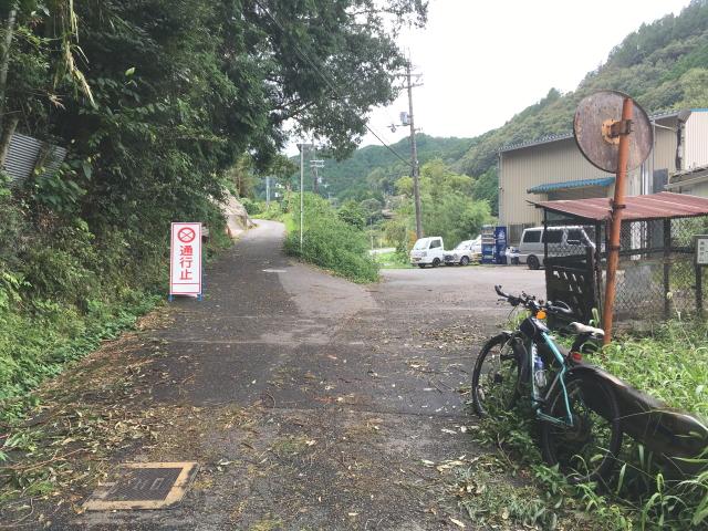 滝畑ダム下~渓流沿いのルートは通行止め