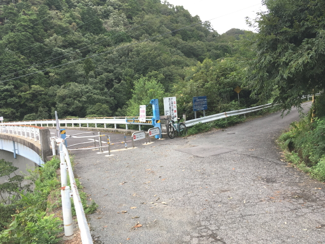 滝畑ダム東側は通行可能