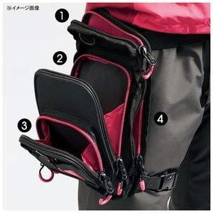 シマノ タックルバッグ ランガンレッグバッグ WB-022R ブラック R(右足)