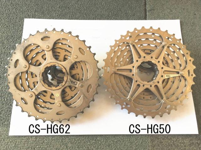 CS-HG62とCS-HG50の裏面を比較